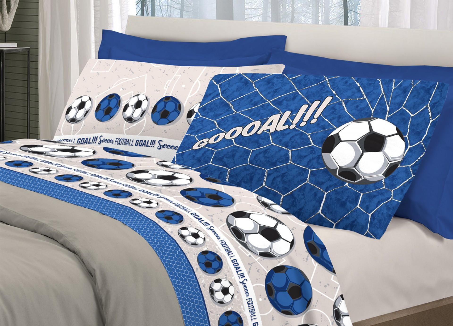 Completo Letto Cotone Football