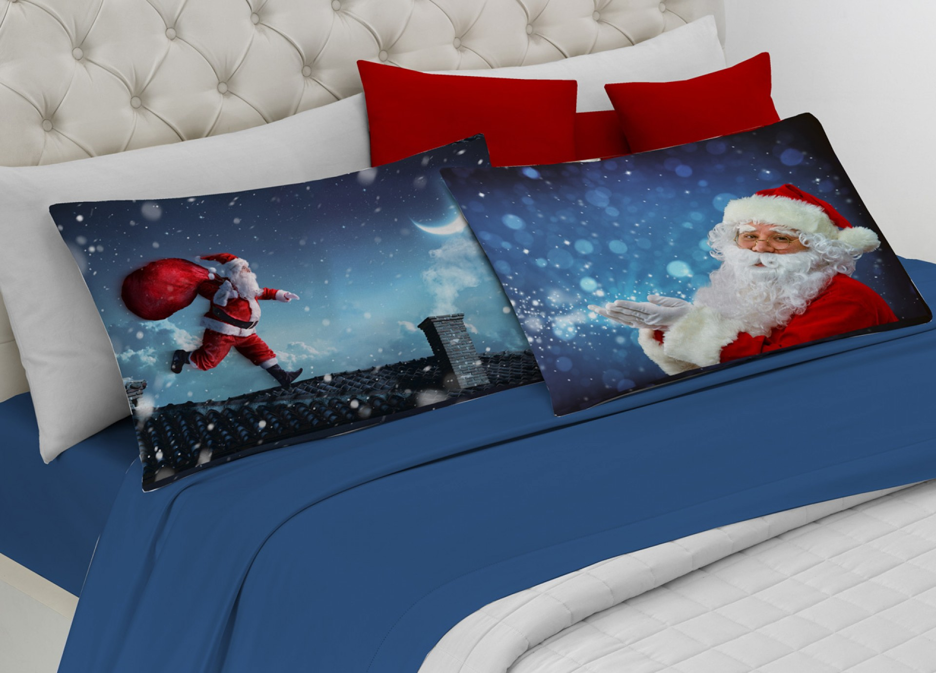 Completo Letto Flanella Stampa Digitale Babbo Natale