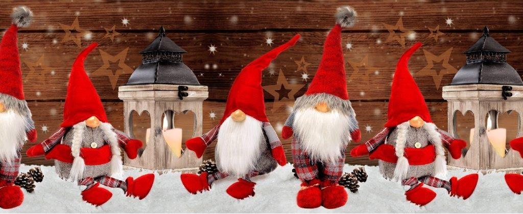 Tappeto Antiscivolo Stampa Digitale Elfo Natale Larghezza 52 cm