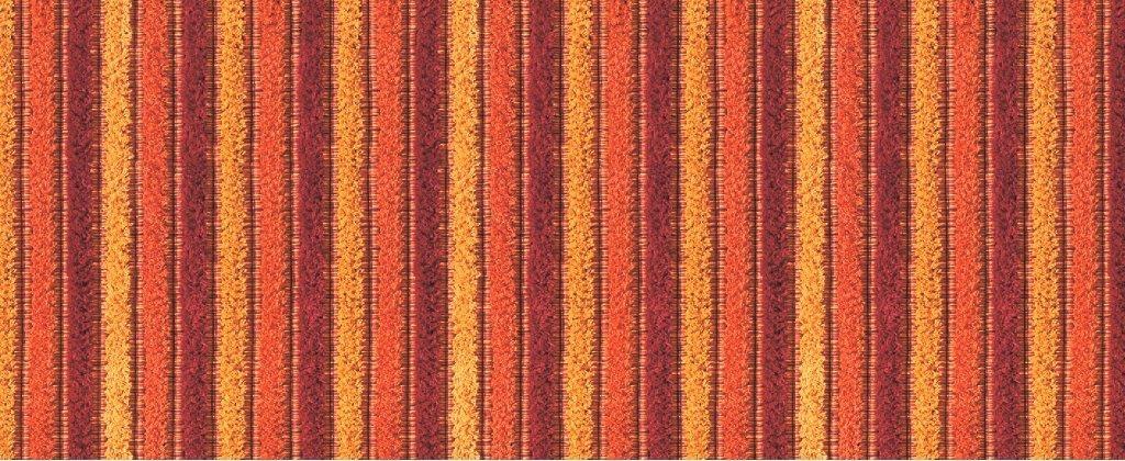 Tappeto Antiscivolo Stampa Digitale Cotone Riga Arancio
