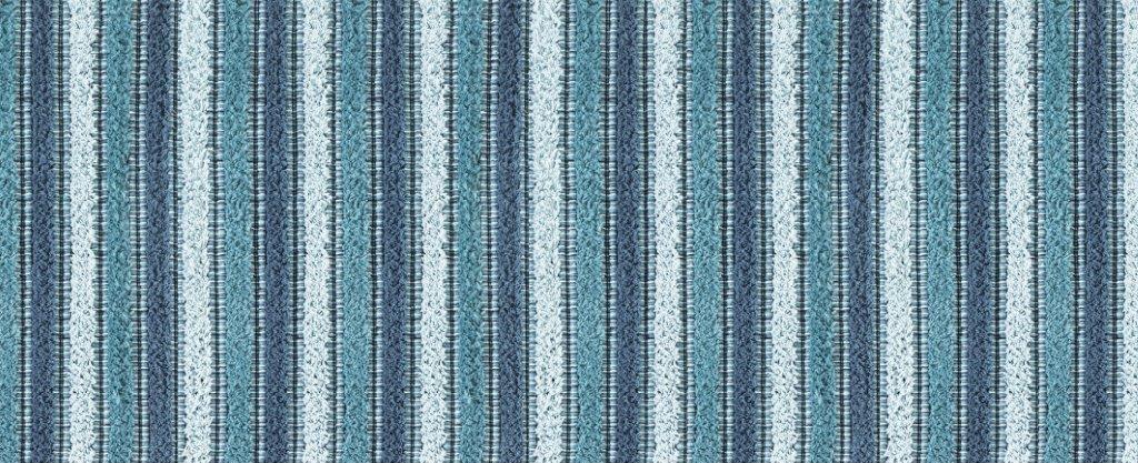 Tappeto Antiscivolo Stampa Digitale Cotone Riga Blu
