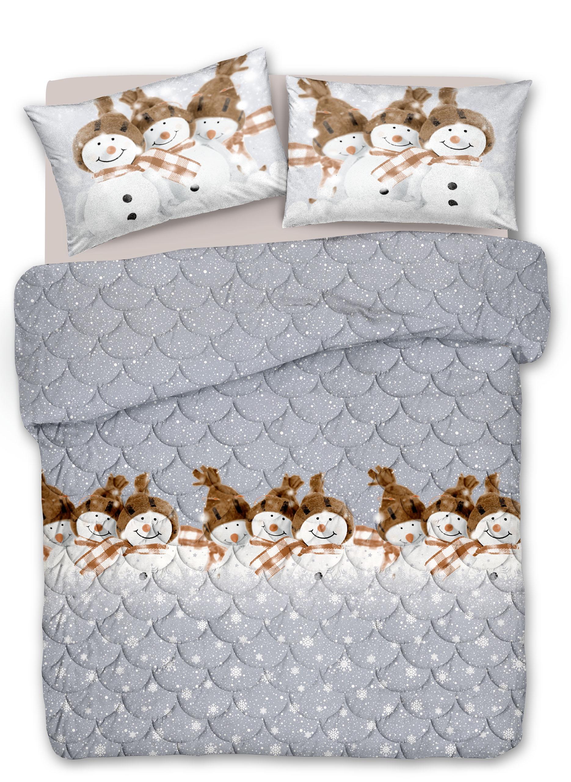 Trapunta Invernale Cotone Snowman