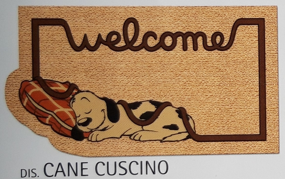 Zerbino Antiscivolo Cane Cuscino cm 40x70