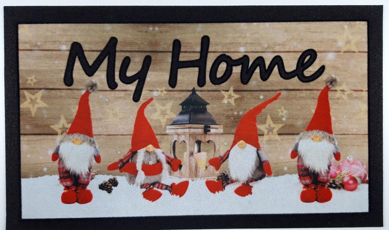 Zerbino Antiscivolo Stampa Digitale Elfi Rosso My Home