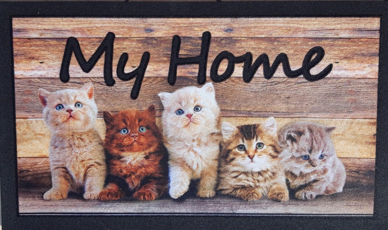 Zerbino Antiscivolo Stampa Digitale My Home Gatti