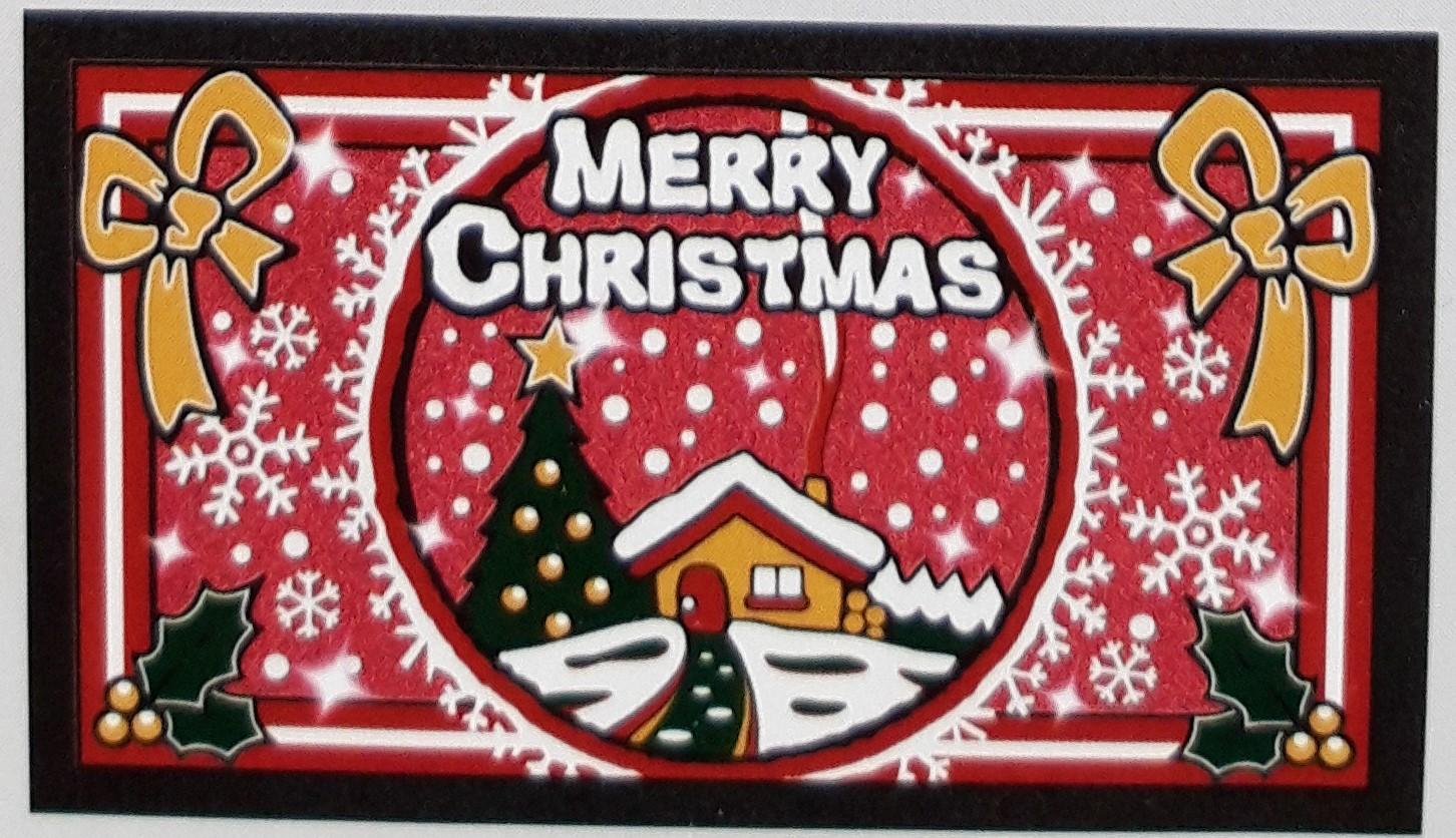 Zerbino Antiscivolo Merry Christmas